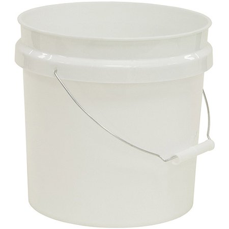 United Solutions 2 Gallon Plastic Industrial Pail With Handle  White