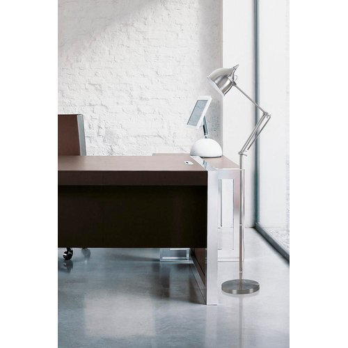 "Artiva USA 61"" Silverado Brushed Steel Metal Floor Lamp"