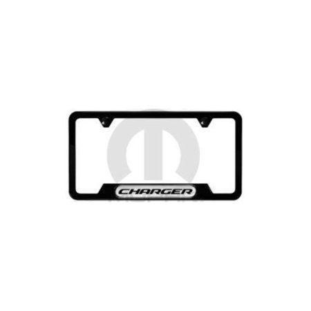 Mopar 82214930 Satin Black Charger Logo License Plate