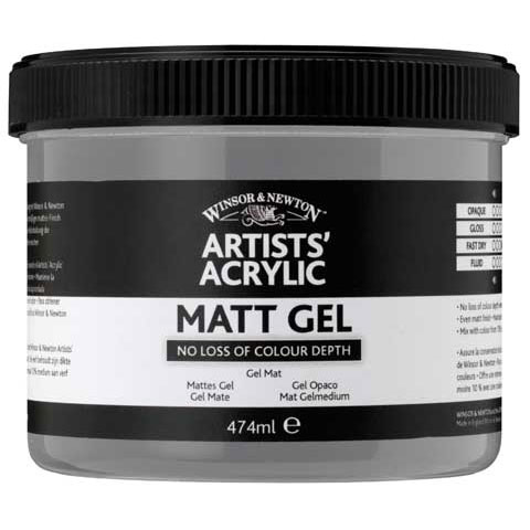 Winsor & Newton - Artists' Acrylic Matt Gel - 237ml Jar