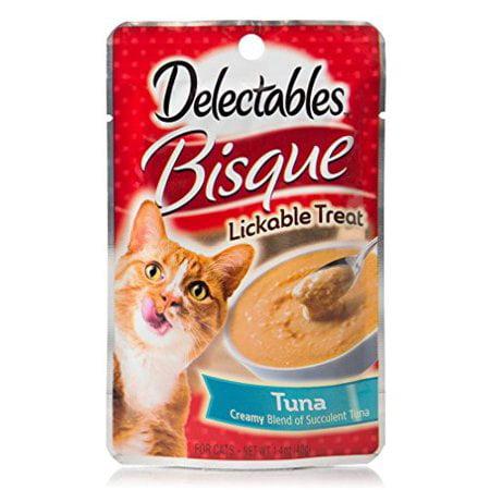 (12 Pack) Delectables Lickable Treat - Bisque Tuna, (Crab Bisque)