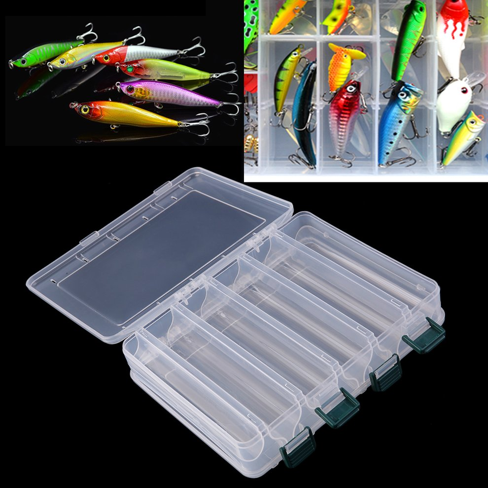 Double Layers Transparent Eco-Friendly Fishing Lure Bait Hooks Tackle Waterproof Storage Box Case Container by