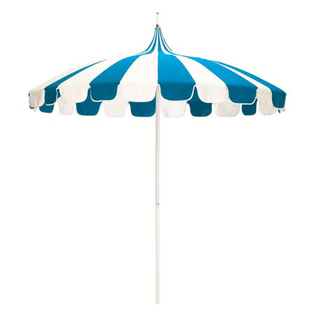 California Umbrella Pagoda 8.5-ft. Striped Pacifica Patio Umbrella