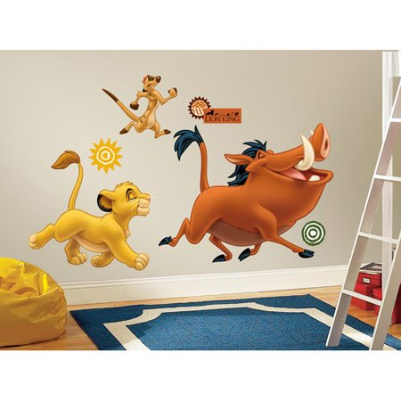 RoomMates The Lion King Peel  Stick Giant Wall Decals Walmartcom - Wall decals walmart