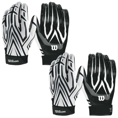 Wilson Adult Mvp Clutch Football Running Back Receiver Gloves  Xl  2 Pairs