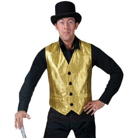 Gold Vest Adult Halloween Accessory (Halloween Vest)