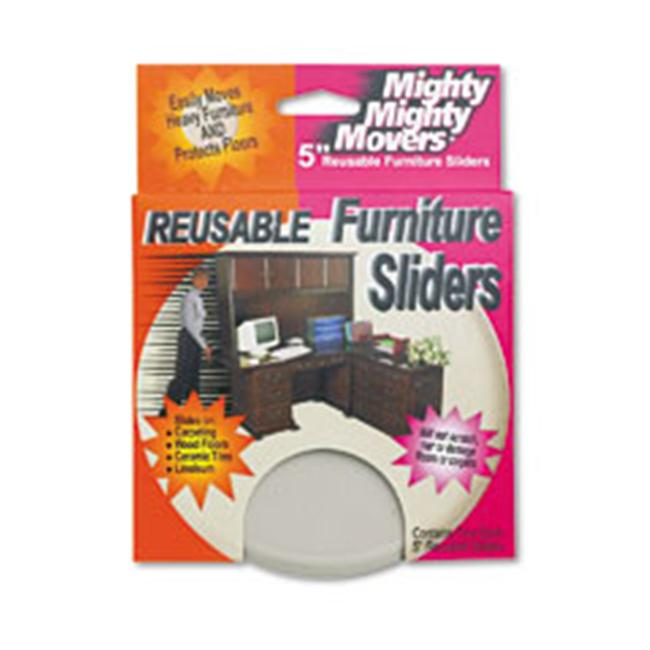 Master MAS-87007 Mighty Movers Reusable Furniture Sliders - 5 Inch Disks