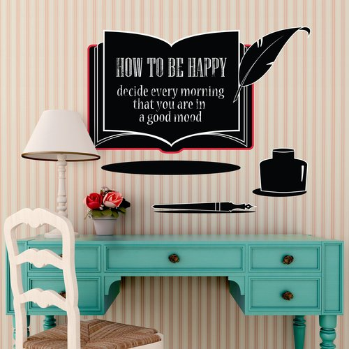 Winston Porter Sarma Book Chalkboard Wall Decal