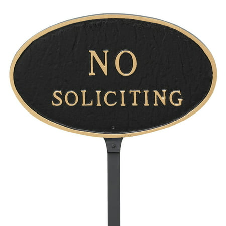 Montague Metal Products No Soliciting Oval Lawn -