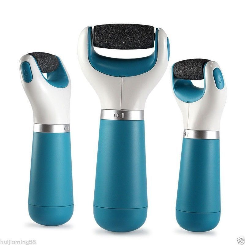 Amope Electronic Pedicure Foot File Callus Remover with 2 Extra Roller Heads