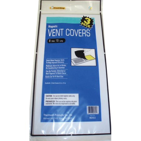 Frost King MC815/3 Magnetic Ventilation Cover, 8 X 15 in, Aluminum,