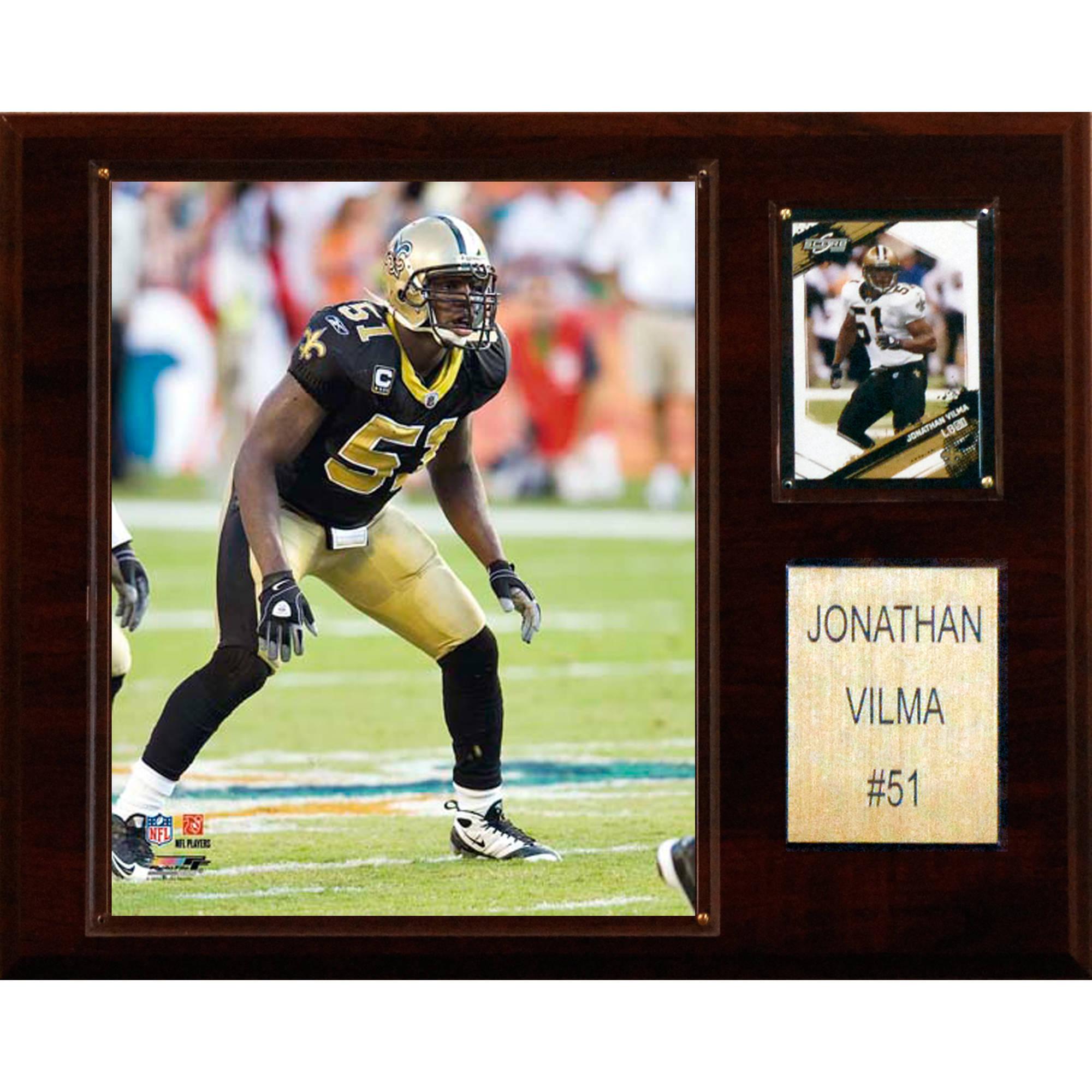C&I Collectables NFL 12x15 Jonathan Vilma New Orleans Saints Player Plaque