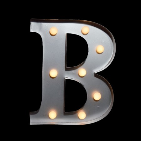 Marquee light letter 39b39 led metal sign 10 inch battery for B marquee letter