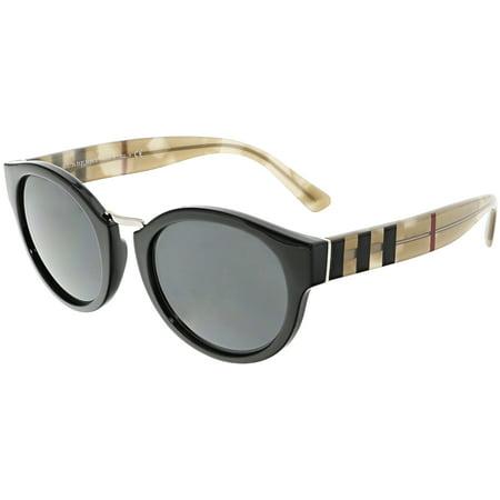 804f0048b1 Burberry - Burberry Women s BE4227-360087-50 Black Round Sunglasses -  Walmart.com
