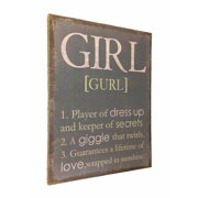 Wilco Home ''Inspire Me'' The Definition of the Word ''Girl'' Framed Textual Art