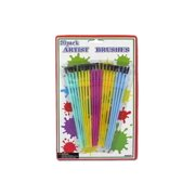 Plastic Artist Brushes - Set of 24
