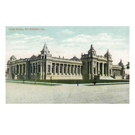 California Houses (Riverside, California - Exterior View of the Court House Print Wall Art By Lantern)