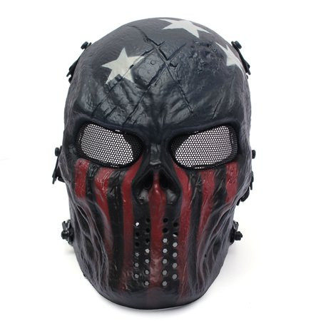 Skeleton Masks For Halloween (Elfeland Tactical Airsoft Mask Overhead Skull Mask Outdoor Paintball Hunting Cs War Game)