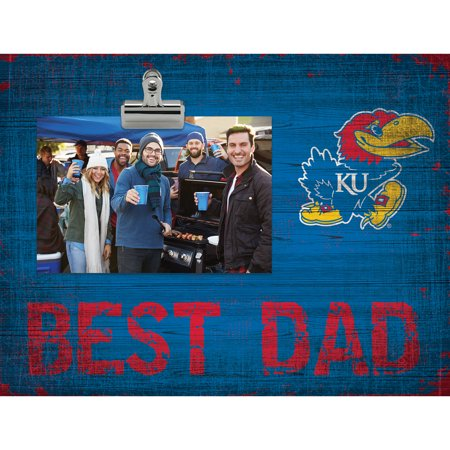 Kansas Jayhawks 8'' x 10.5'' Best Dad Clip Frame - No