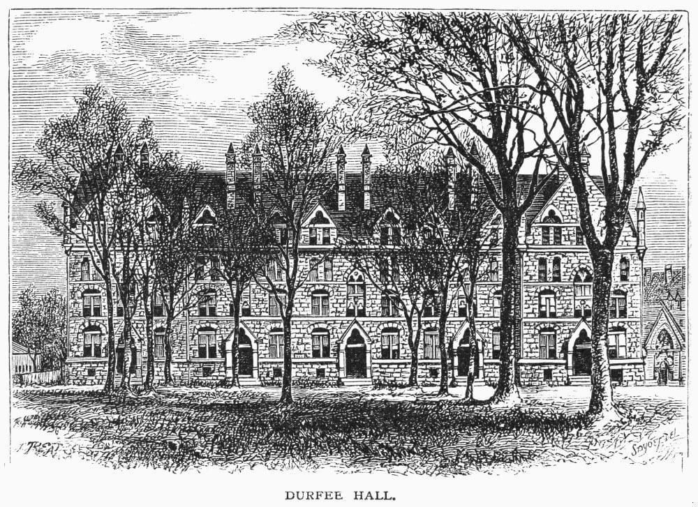 Yale Durfee Hall 1876 Ndurfee Hall At Yale University New Haven Connecticut Wood Engraving 1876 Rolled Canvas Art 24 Walmart Com Walmart Com