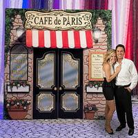 La Paris Cafe Cardboard Stand-Up, 10ft