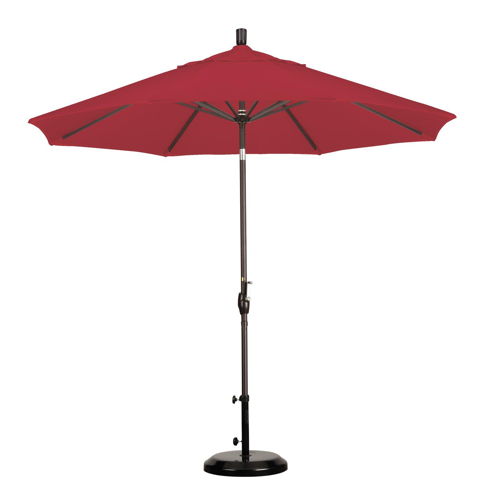 California Umbrella 7.5' Market Patio Umbrella in Burgandy