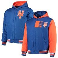 New York Mets JH Design Reversible Poly-Twill Full-Snap Jacket - Royal