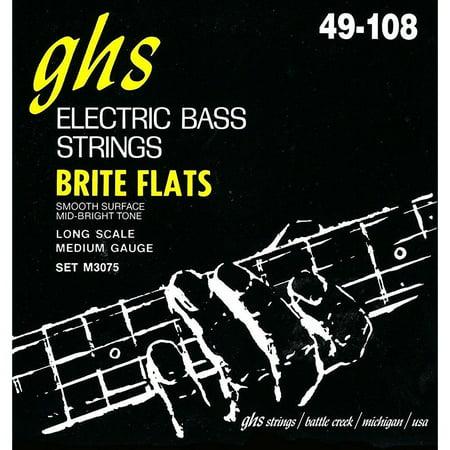 GHS 4-String Bass Brite Flats 34