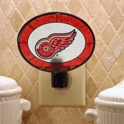 Detroit Red Wings Art Glass Nigtlight