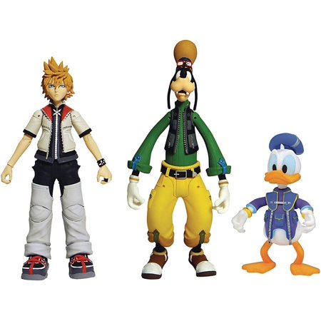 Disney Series 2 Roxas, Donald Duck & Goofy Action Figure 3-Pack