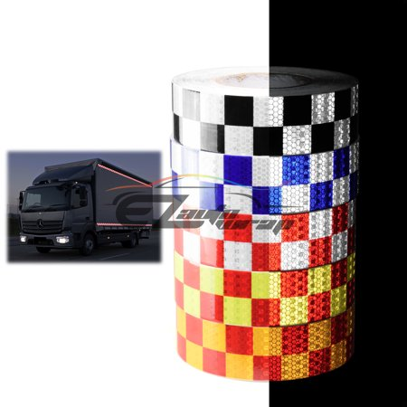 Red Neon Yellow Checker Conspicuity Tape 2