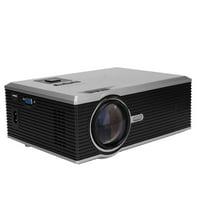 Tebru Home 1080P Projector, Mini Portable HD 1200LM LED 1080P Video Home Theater Smart Projector US Plug 100-240V, HD LED Projector