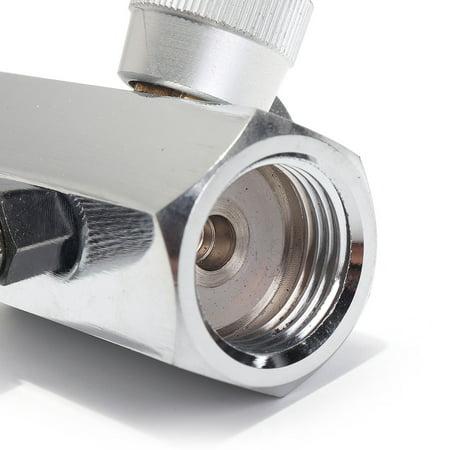 CO2 Cylinder Refill Adapter Connector Gas Regulator  - image 6 de 8