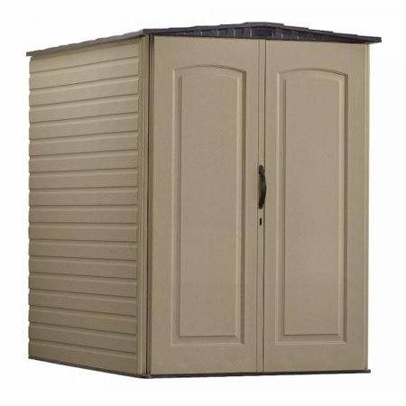 Rubbermaid 5 x 6 ft Large Storage Shed, Sandstone & Onyx
