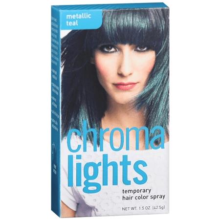 Chromalights Metallic Teal Temporary Hair Color Spray - Walmart.com