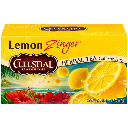 Celestial Seasonings Lemon Zinger Herbal Tea Bags, 20 ct