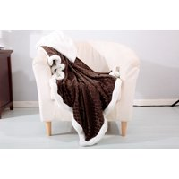 Mermaid 50x60 Throw Blanket, Soft Plush Reversible Sherpa Lined - Chocolate