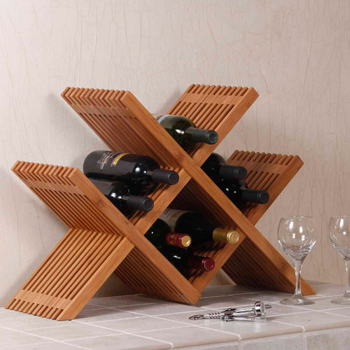 Seville Classics Classic Lines Bamboo Wine and Storage Rack