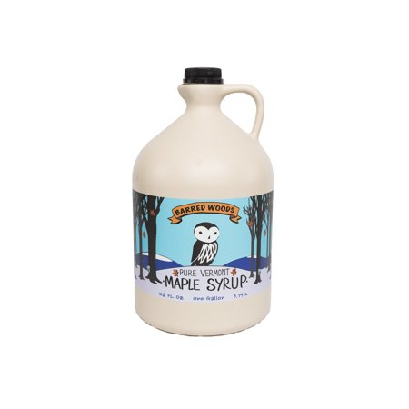 1 Gallon (128 oz) Pure Vermont Maple Syrup from Barred Woods Maple - Grade A Amber Rich