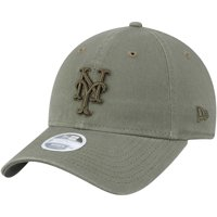 New York Mets New Era Women's Bark Tonal Core Classic 9TWENTY Adjustable Hat - Olive - OSFA