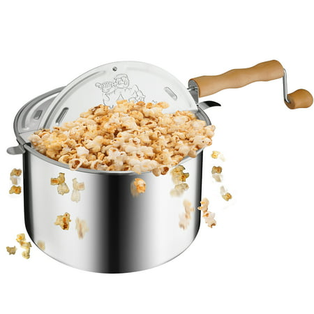 Whirley Pop Stovetop Popper (Great Northern Popcorn Original Spinner Stovetop 6 1/2 Quart Popcorn Popper - Theater Popcorn at)