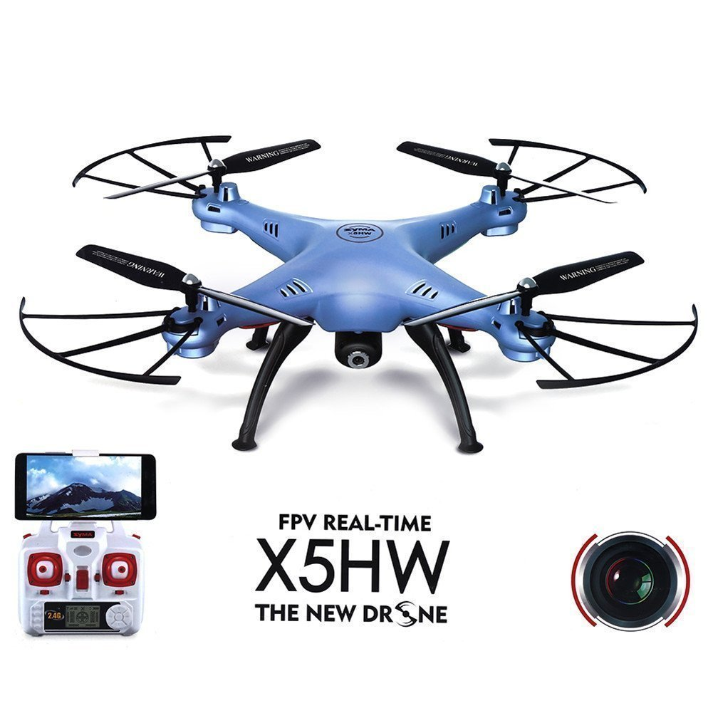 SYMA X5HW Wifi FPV Drone with HD Camera Live Video Altitude Hold Function 2.4Ghz 4CH RC Quadcopter