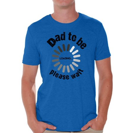 218df7d704 Awkward Styles Men s Dad To Be Loading Please Wait Graphic T-shirt Tops New  Dad Gift Father s Day