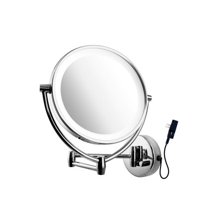 Ovente mlw45ch 95 inch led lighted wall mount makeup mirror 1x10x ovente mlw45ch 95 inch led lighted wall mount makeup mirror 1x10x magnification aloadofball Image collections