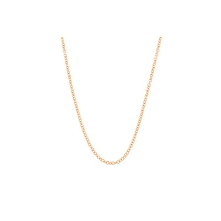 14k Yellow, White or Rose Gold 1.1mm Round Cable Link Chain Necklace, 16 18