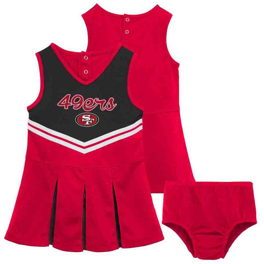 NFL San Francisco 49ers Toddler Cheerleader Set