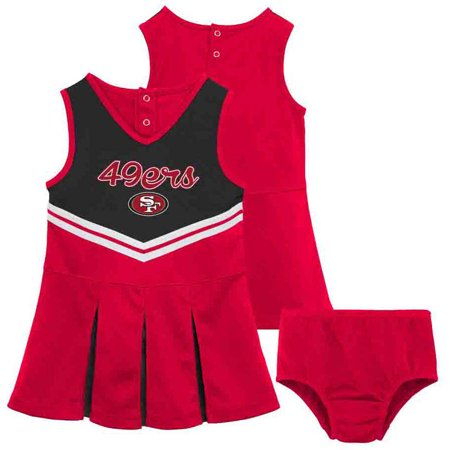 NFL San Francisco 49ers Toddler Cheerleader Set by