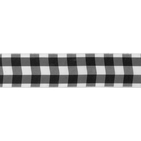 Offray Wired Bold Check Ribbon, 1-1/2