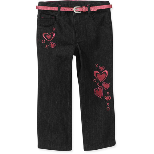 Healthtex Baby Girls' Heart Denim Jeans