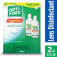 OPTI-FREE Express Multipurpose Contact Lens Disinfecting Solution, 2 x 10 Fl Oz TWIN